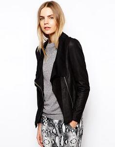 Muubaa Lugano Drape Leather Jacket