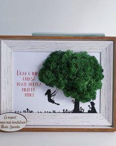 Moss Wall Art, Moss Art, Cadre Diy, Recycled Art, Diy Art, Diy For Kids, Teacher Gifts, Diy And Crafts, Green