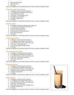Herbalife shake recipe book