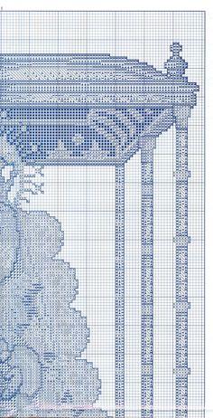 virgen del rocio punto de cruz | Aprender manualidades es facilisimo.com Blackwork, Needlepoint, Cross Stitch, Diy, Ideas, Saints, Cross Stitch Pictures, Embroidery Designs, Disney Cross Stitches