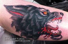 Valerie Vargas line work is 100 Wolf Tattoos, Animal Tattoos, Leg Tattoos, Body Art Tattoos, Tattoos For Guys, Tatoos, Wolf Tattoo Sleeve, Chest Tattoo, Sleeve Tattoos