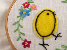 easter chick embroidery pattern