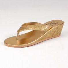 Metallic Sandals-- I would put these on right now!