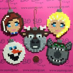 Zo Zo Tings - Frozen Christmas Pixel Baubles