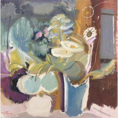 Flowers Before a Window by Ivon Hitchens 1893-1979