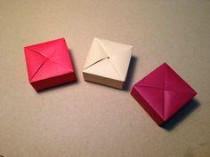 Origami Anleitung für eine Geschenkschachtel aus einem Stück Papier