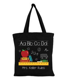 Teachers Rule Personalized Tote Bag