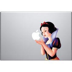Snow White Colour Macbook Decal