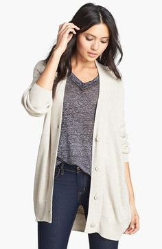Leith Knit Boyfriend Cardigan available at #Nordstrom