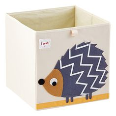 Tall and adorable, can mix and match! Hedgehog Storage Cube by 3 Sprouts