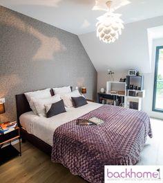 chambre parentale cosy luminaire forme vgtale tagres design papier peint criture photos - Luminaire Chambre Parentale