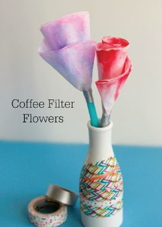 Simple coffee filters transform into a spring centerpiece worth displaying. Have your kids get creative with markers for a personalized spin on these DIY Colored Coffee Filter Flowers.