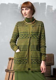 """""""Inger"""" cardigan in eco-cotton/wool – Cozy knitwear – GUDRUN SJÖDÉN – Webshop, mail order and boutiques   Colorful clothes and home textiles in natural materials."""