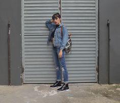 Look com jaqueta jeans vintage - Blog Ela Inspira
