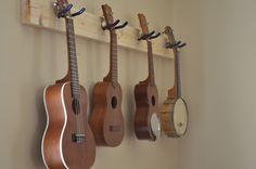 My Blog Has Fleas - ukulele info and tips: How to Make a Ukulele Wall Hanger