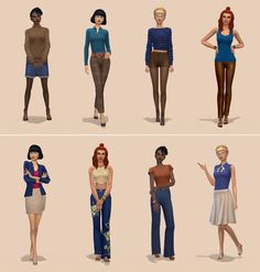 Netz-à-porter – outfits ready to wear for your sims (no CC required) - Page 14 My Sims, Sims Cc, Sims 4 Loft, Sims 4 Bedroom, Casas The Sims 4, Sims 4 Characters, Sims 4 Cc Packs, Sims Four, Sims 4 Cc Finds