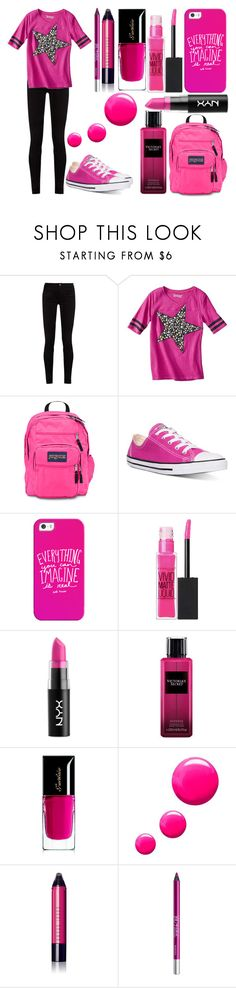 """""""Sans titre #6009"""" by crazymoustik ❤ liked on Polyvore featuring Gucci, JanSport, Converse, Casetify, Maybelline, NYX, Victoria's Secret, Guerlain, Topshop and Bobbi Brown Cosmetics"""
