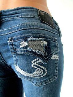 Women Cheap Silver Pioneer Blowout Flap Pocket Bootcut Jean 26,27,29,30,31,33,34 #SilverJeans #BootCut