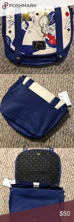 """Alice in Wonderland cross body Never used 11""""L 10""""H opens about 4""""W Disney Bags Crossbody Bags"""