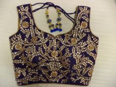 Stunning Blue Kundan Blouse.....Become Show Stealer!