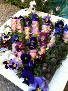 Medium size healing sacred smudge stick with cypress, roses, rosemary & pansy.  via Etsy.