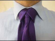 ▶ How to tie the Merovingian Knot or Ediety knot for your necktie - YouTube