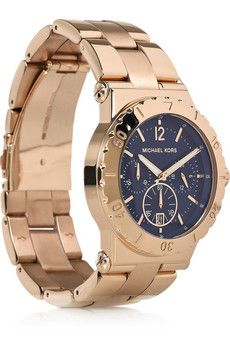 Michael Kors in rose gold with navy face.