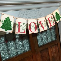 Love Christmas Banner Love Sign Rustic Christmas by IfIWereBanners