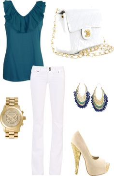Amazing Summer Night Outfit, created by helling on Polyvore