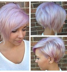 Short Pastel Undercut Hair 2015