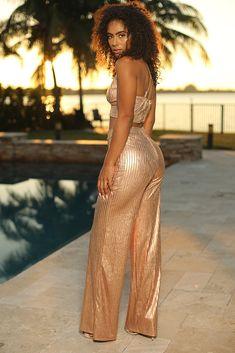 1d93164658 Monica Set - Semai House Of fashion Gold Pants, Trendy Fashion, Fashion  Outfits,