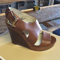 Michael Kors Brown Leather Wedges Michael Kors Leather Wedges , Brown , Michael Kors Shoes Wedges