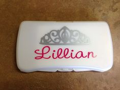 Personalized Princess Baby Wipes Travel Case