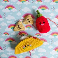 You are the Hot sauce in my tacos! ❤️🌮❤️🌮❤️ Happy Friday to you! Looking for a super tremendous plan for the weekend? Make this Taco party mobile. You can find the pattern on my blog www.amigurumifood.com #amigurumifood#amigurumi #crochet #etsy #etsyshop #hotsauce #tortillachips #taco #tacobell #kawaii #maker #cute #friday This mobile is available to purchase in my Etsy shop!