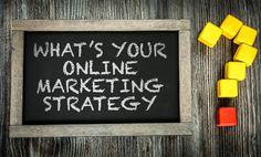 Whats Your Online Marketing Strategy? written on chalkboard