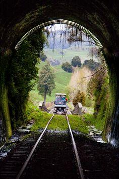 Tunnel Entrance - Whangamomona Forgotten World Adventure
