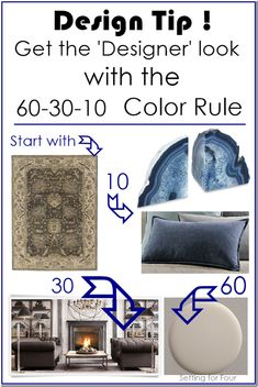 Design Color Rule - how to create an entire color palette EASILY! How to decorate your room and get the 'designer' look.: Design Color Rule - how to create an entire color palette EASILY! How to decorate your room and get the 'designer' look. Decorating Tips, Interior Decorating, Best Decor, Up House, Decorate Your Room, Home Living, Living Rooms, Luxury Living, Small Living