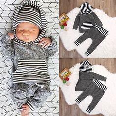 $7.14 (Buy here: https://alitems.com/g/1e8d114494ebda23ff8b16525dc3e8/?i=5&ulp=https%3A%2F%2Fwww.aliexpress.com%2Fitem%2F2016-Winter-Autumn-Toddler-Newborn-Baby-Boy-Girl-Striped-Long-Sleeve-T-shirt-Top-Hoodie-Legging%2F32724482190.html ) 2016 Winter Autumn Toddler Newborn Baby Boy Girl Striped Long Sleeve T-shirt Top Hoodie+Legging Pants 2pcs Outfits Set for just $7.14