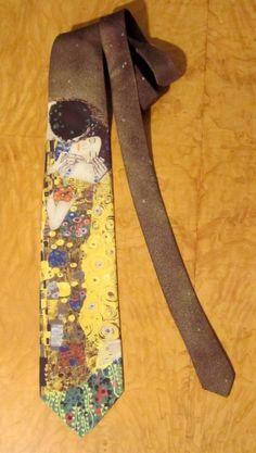 Gustav Klimt Silk Tie Made in Italy The Kiss Art by modernmatters