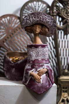 Ceramic statue _ Andrei Pandea Ceramics Ceramic Birds, Ceramic Art, Pinterest Garden, Clay Figures, Land Art, Buddha, Artworks, Faces, Sculpture