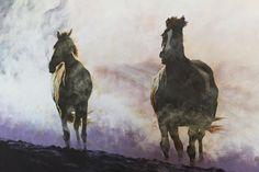 Wanddeko - Bild auf Leinwand Handbemalt - ein Designerstück von Ortons bei DaWanda Moose Art, Etsy, Animals, Wall Canvas, Animales, Animaux, Animal Memes, Animal, Animais