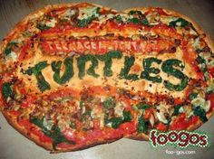 TMNT logo pizza