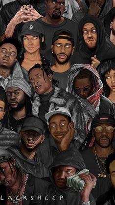 Rappers I love Black Girl Art, Black Women Art, Art Girl, Arte Do Hip Hop, Hip Hop Art, Arte Dope, Dope Art, Harey Quinn, Rap Wallpaper