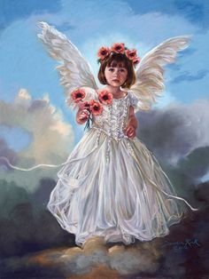 This is one of my favorite pieces by Sandra Kuck!  I just ♥ Love ♥ her angels and this one is definitely no exception. She has such a look of innocence...so sweet!