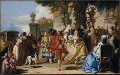 """A Dance In The Country""  --  Circa 1755  --  Giovanni Domenico Tiepolo  --  Italian  --  Oil on canvas  --  The Metropolitan Museum of Art, New York"