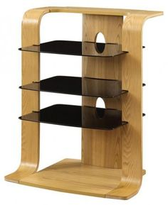 Jual Curved Oak Wood Entertainment Unit JF204 Available in Walnut or new oak £189.00