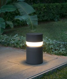 Small Garden Post Light is a modern outdoor small garden post light with built-in LED.