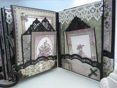 Heartfelt Creations Raindrops on Roses Mini Album - Scrapbook.com