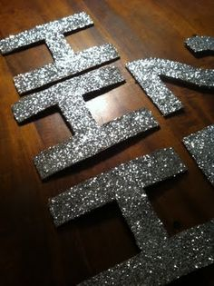 You can never, never, NEVER have enough sparkly letters.