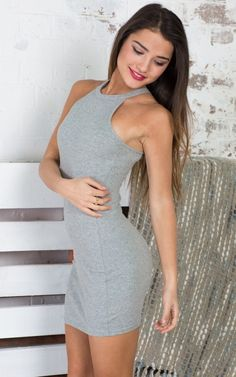 Take The High Road Dress in Grey   SHOWPO Fashion Online Shopping $50 You won't ever get bored of this dress. Our Take The High Road dress will hug your body in all the right places. Pair it with a statement necklace and high heels for an understated night out look.